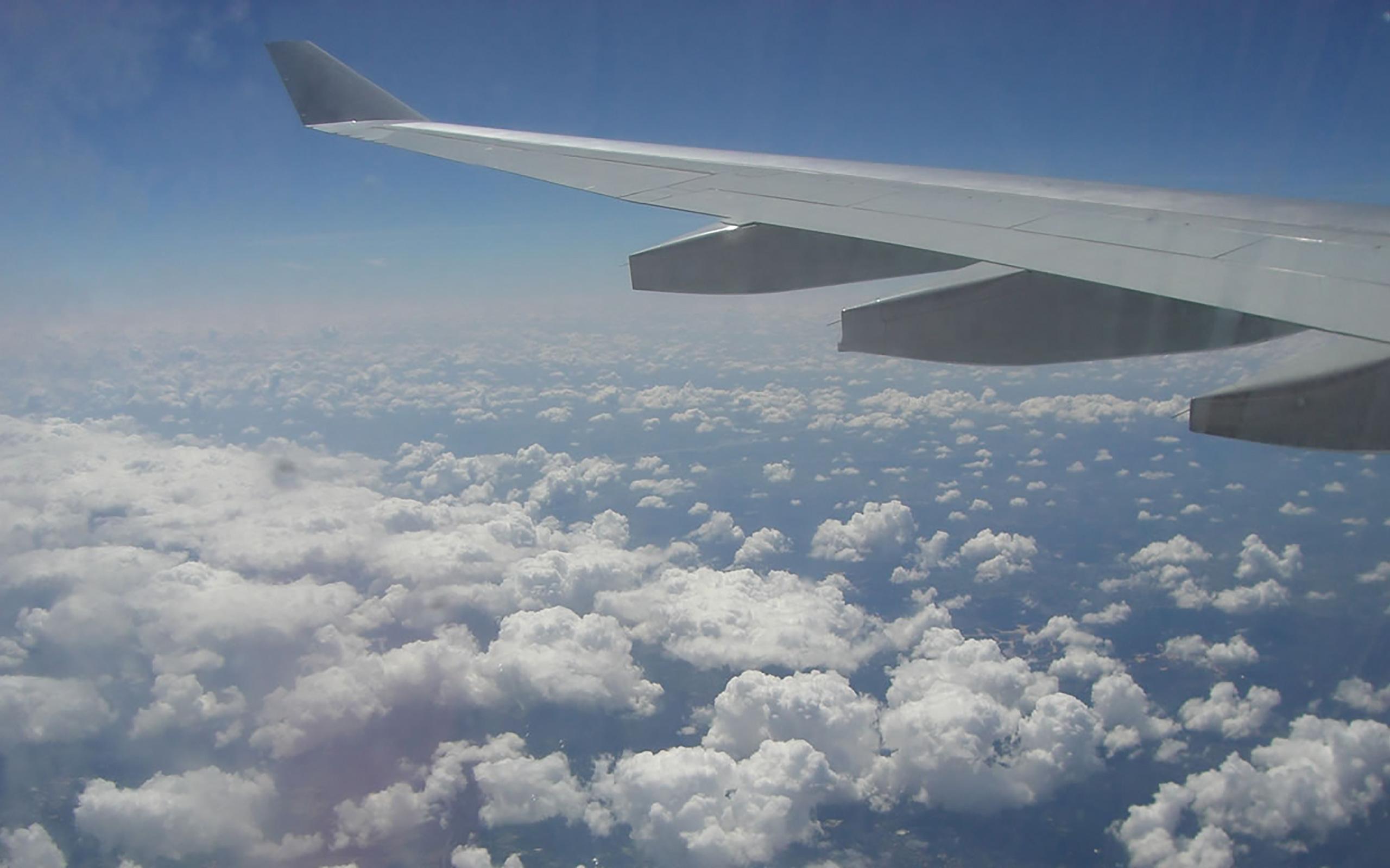 Irgendwo über den Wolken.