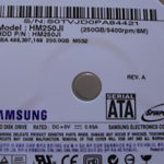 Meine neue 250 GB-Festplatte
