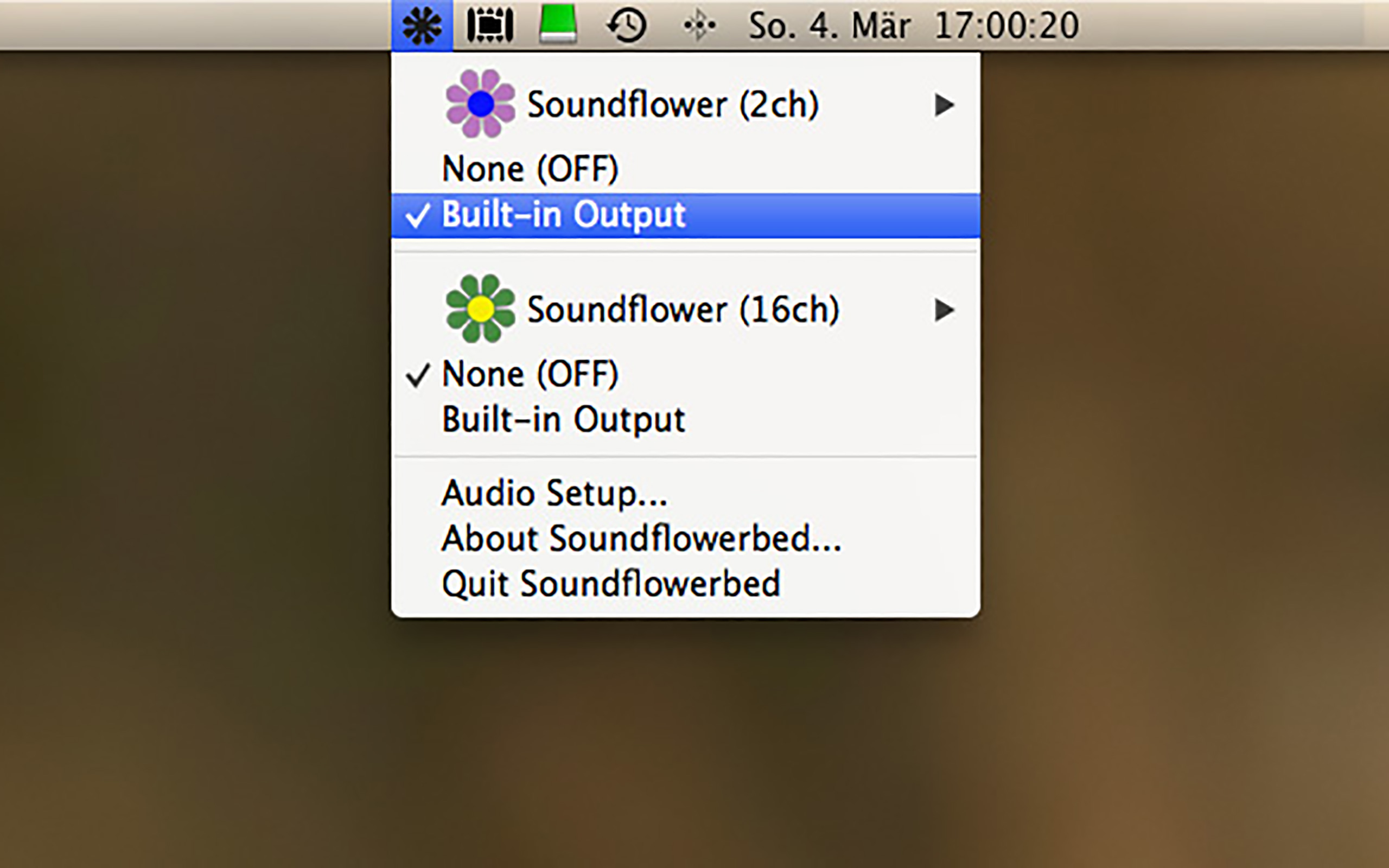 Soundflower 2ch Built-In Output
