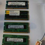 Arbeitsspeicher unter sich: 2x 1GB und 2x 2GB.