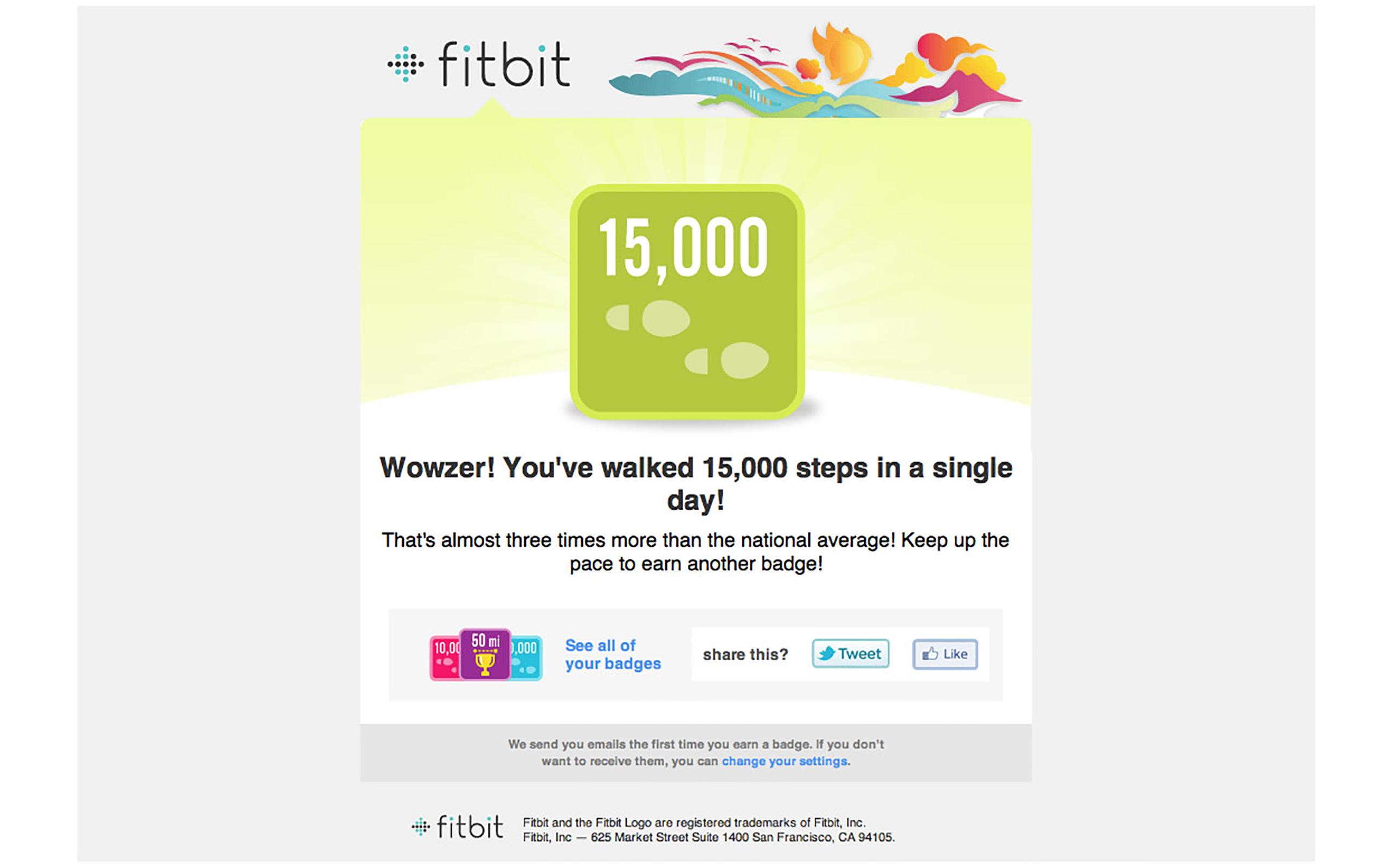 Abzeichen: 15.000 Schritte