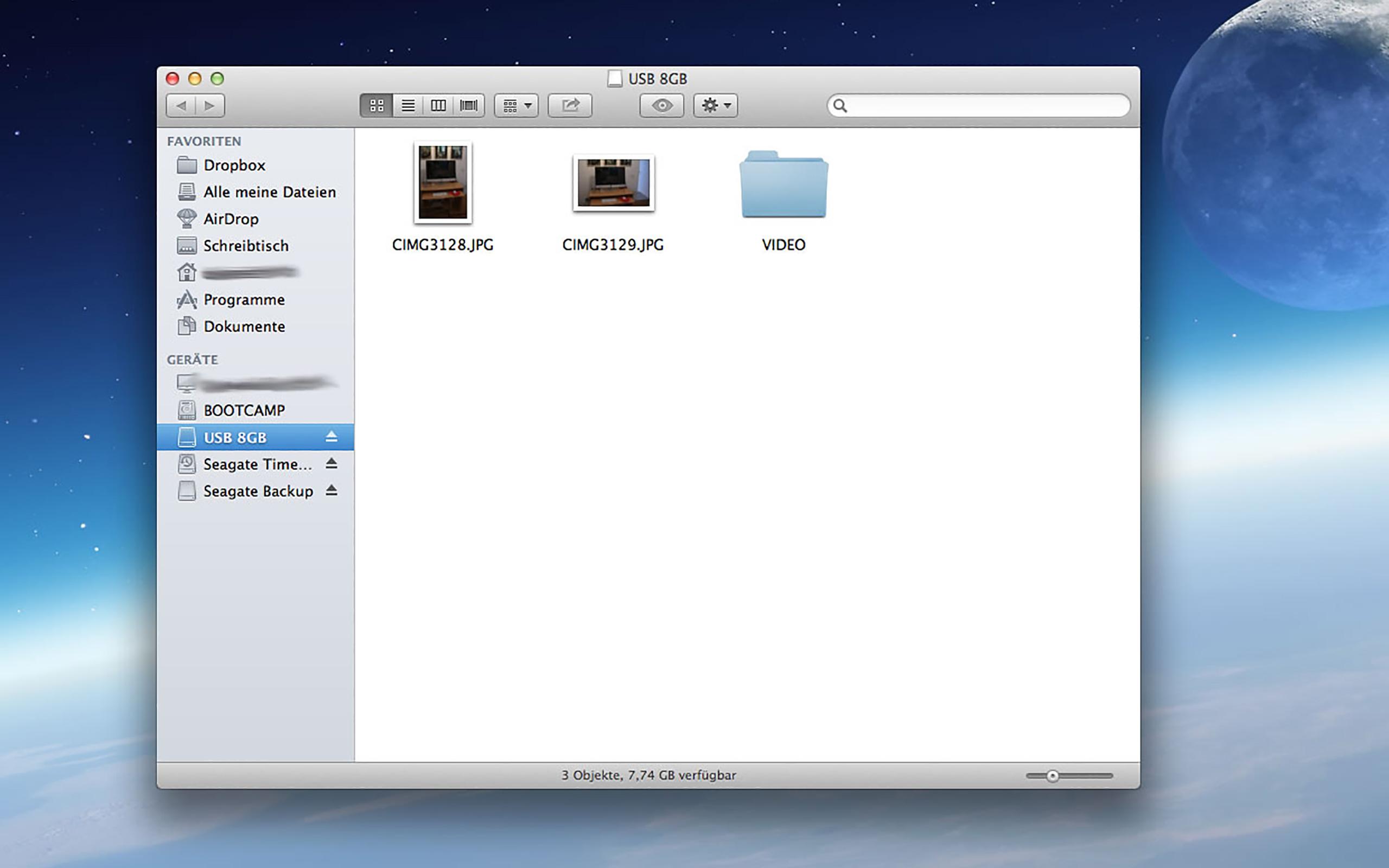 """Unter Mac OS X sind die unsichtbaren Dateien wirklich """"unsichtbar""""."""