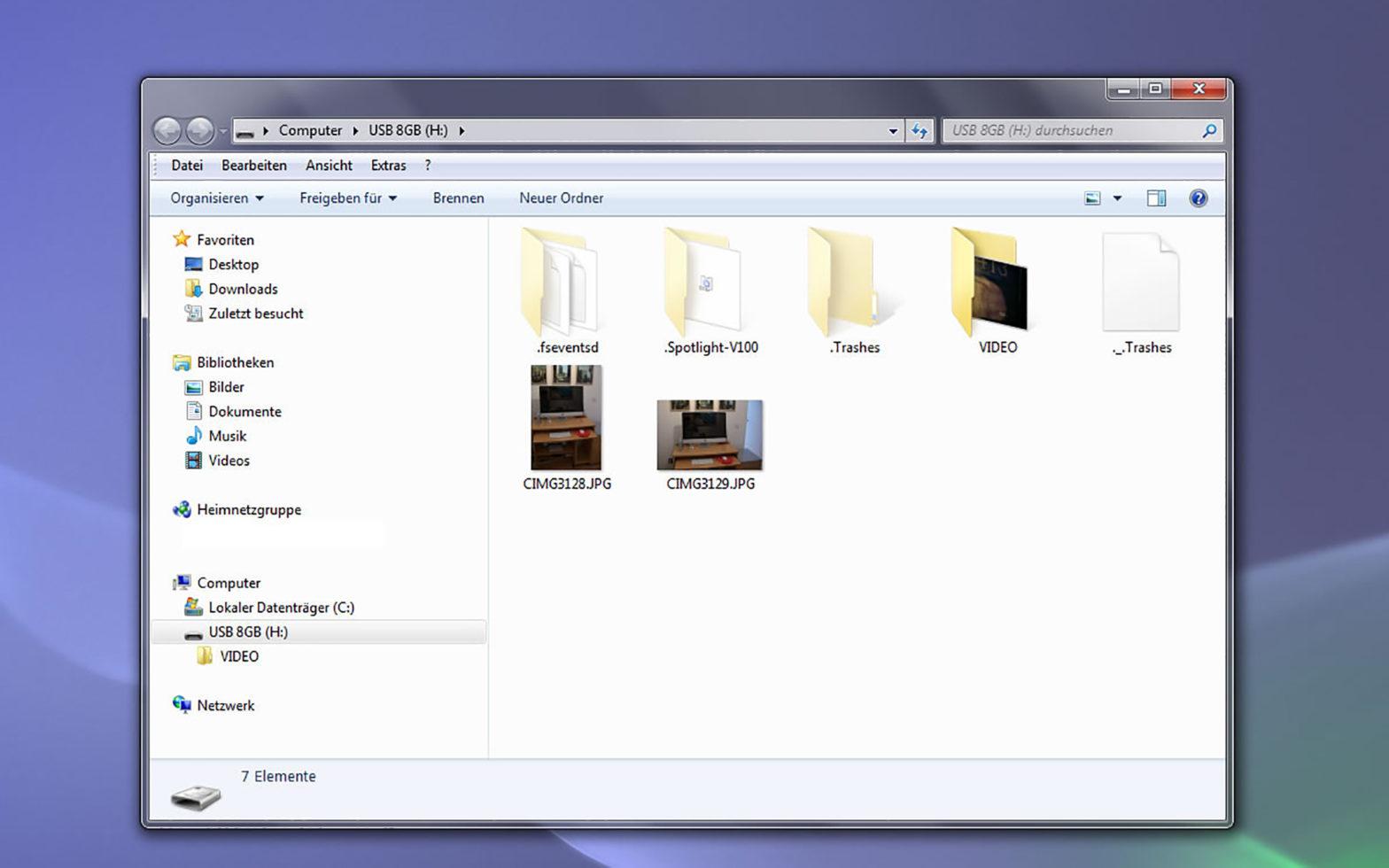 Screenshot Windows 7