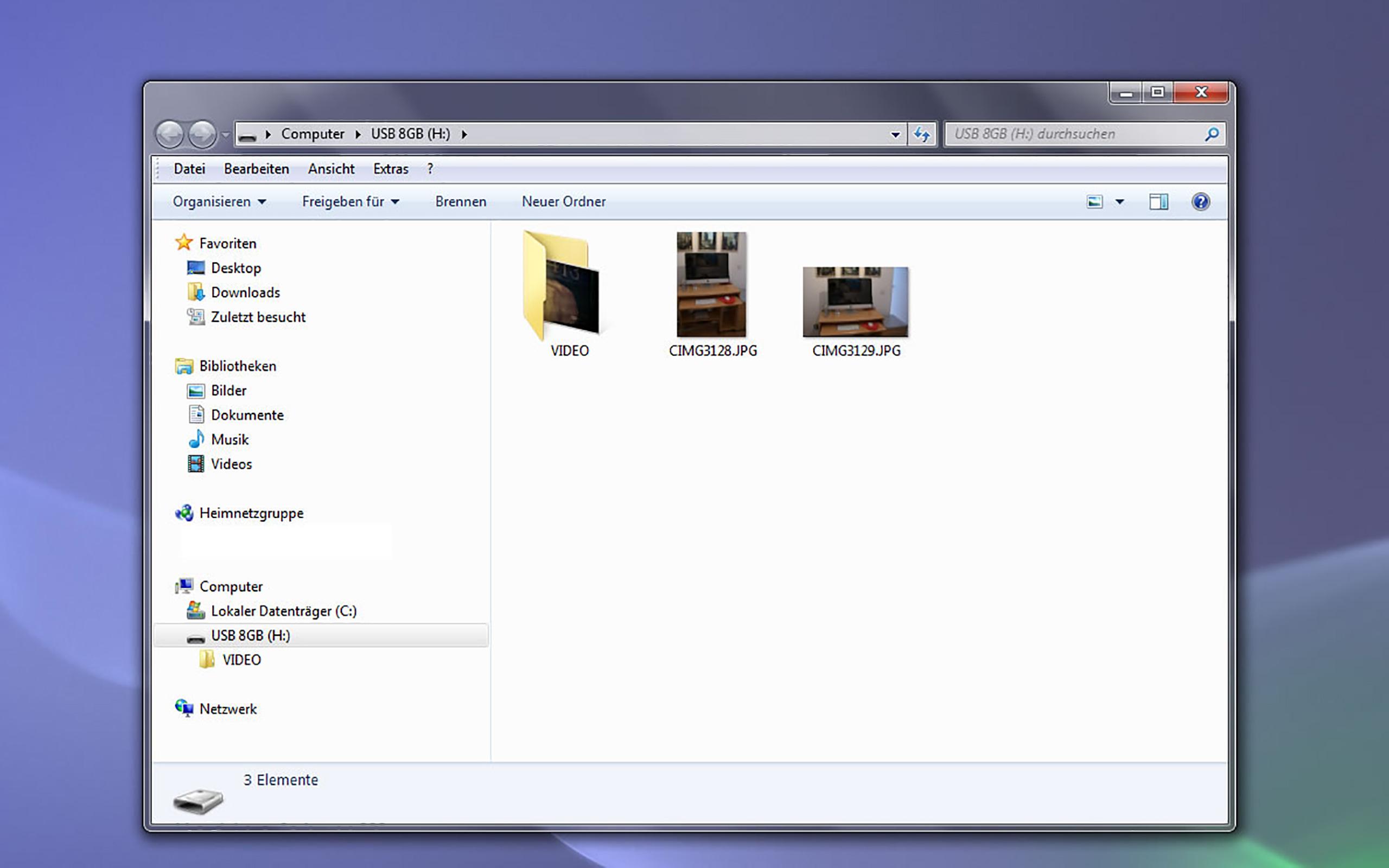 Nach Aktivierung von BlueHarvest sind die unsichtbaren Mac OS X-Dateien verschwunden.