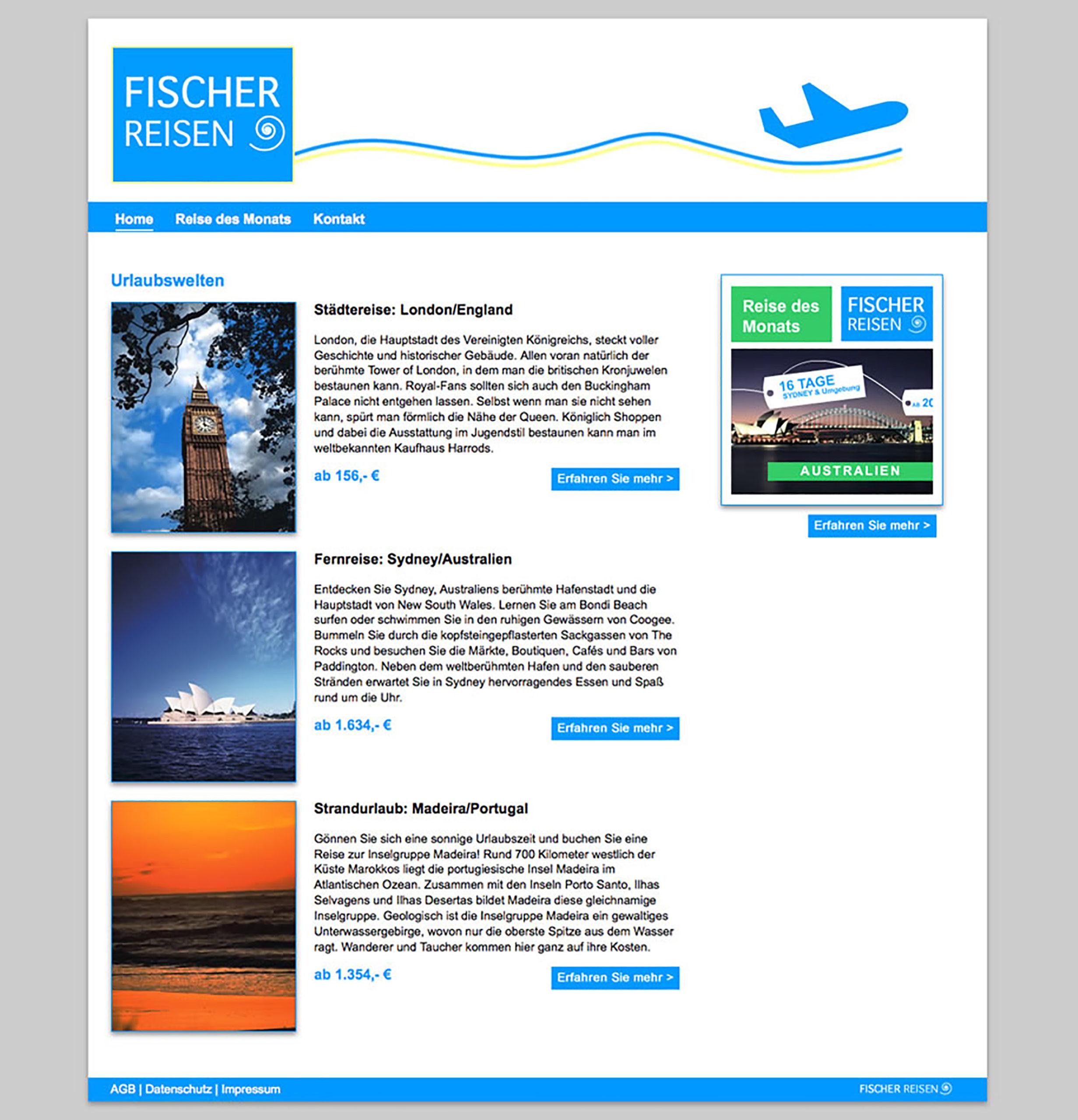 Homepage (Entwurf SGD Abschlussarbeit)