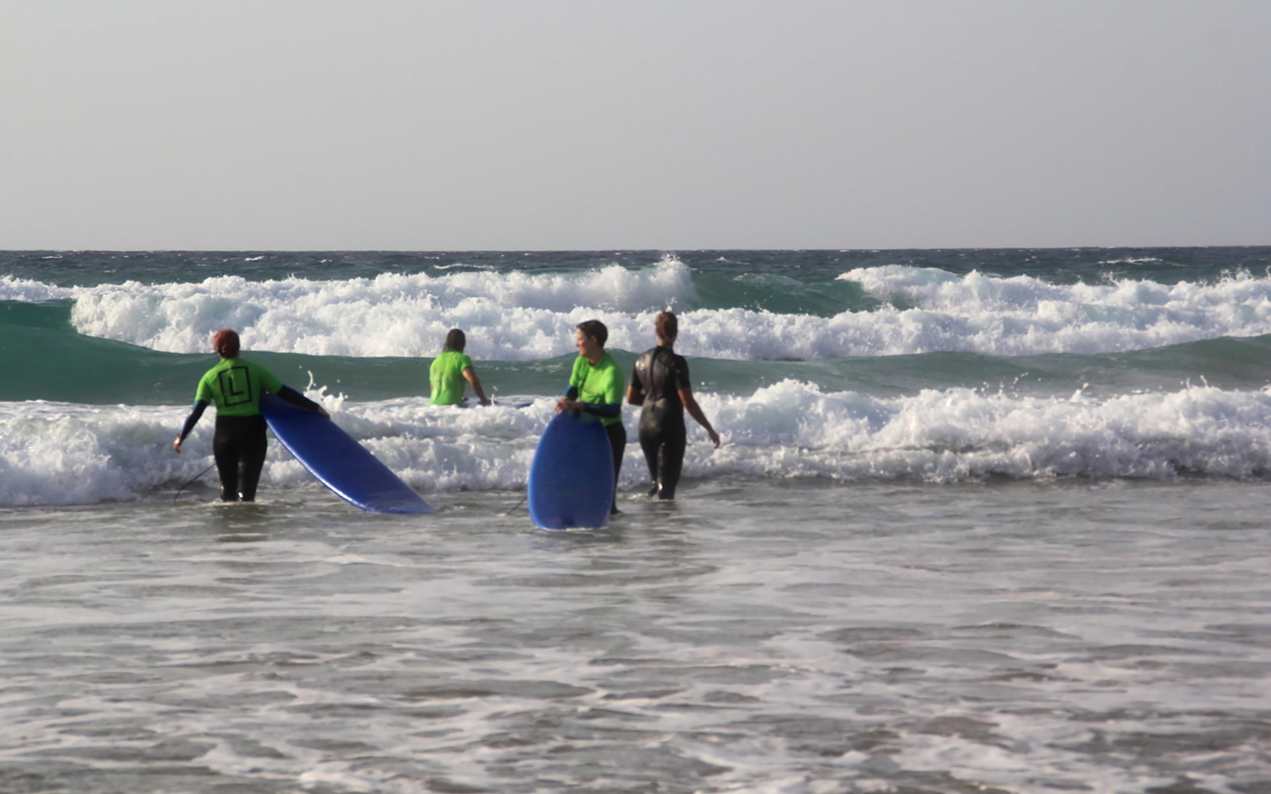 Zum Glück sind die Wellen nicht so groß! o.Ô