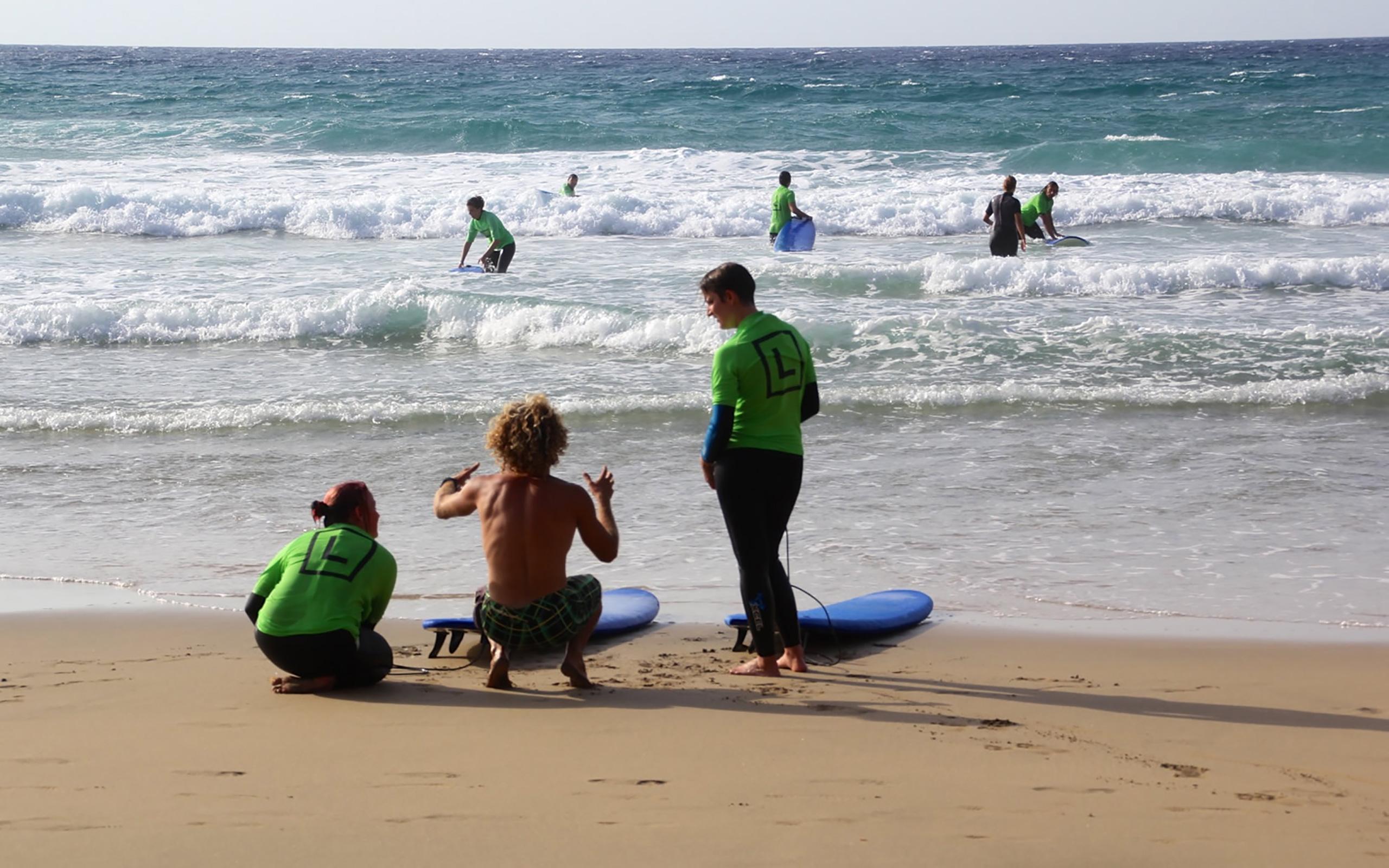 Tipps vom Surf-Lehrer.