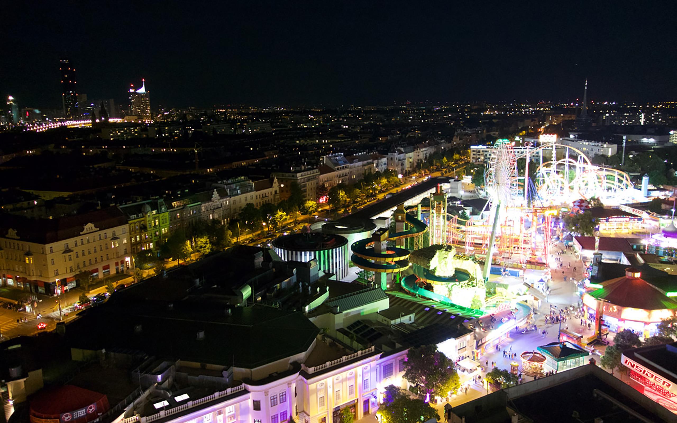 Blick vom Wiener Riesenrad.