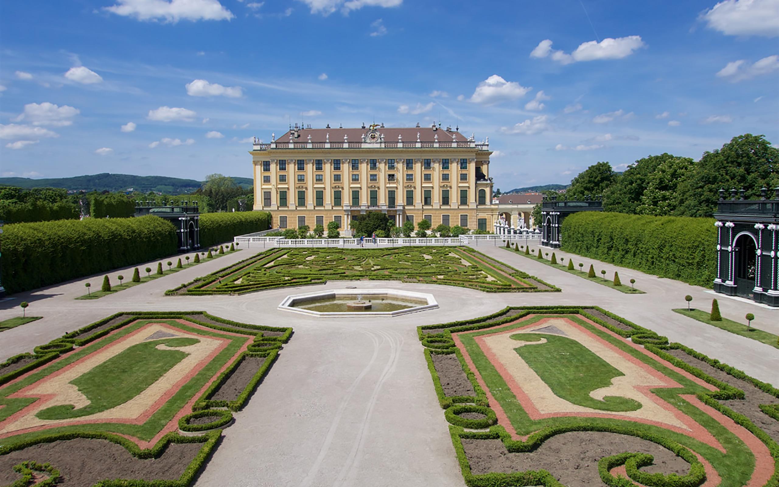 Kronprinzengarten im Schloss Schönbrunn.