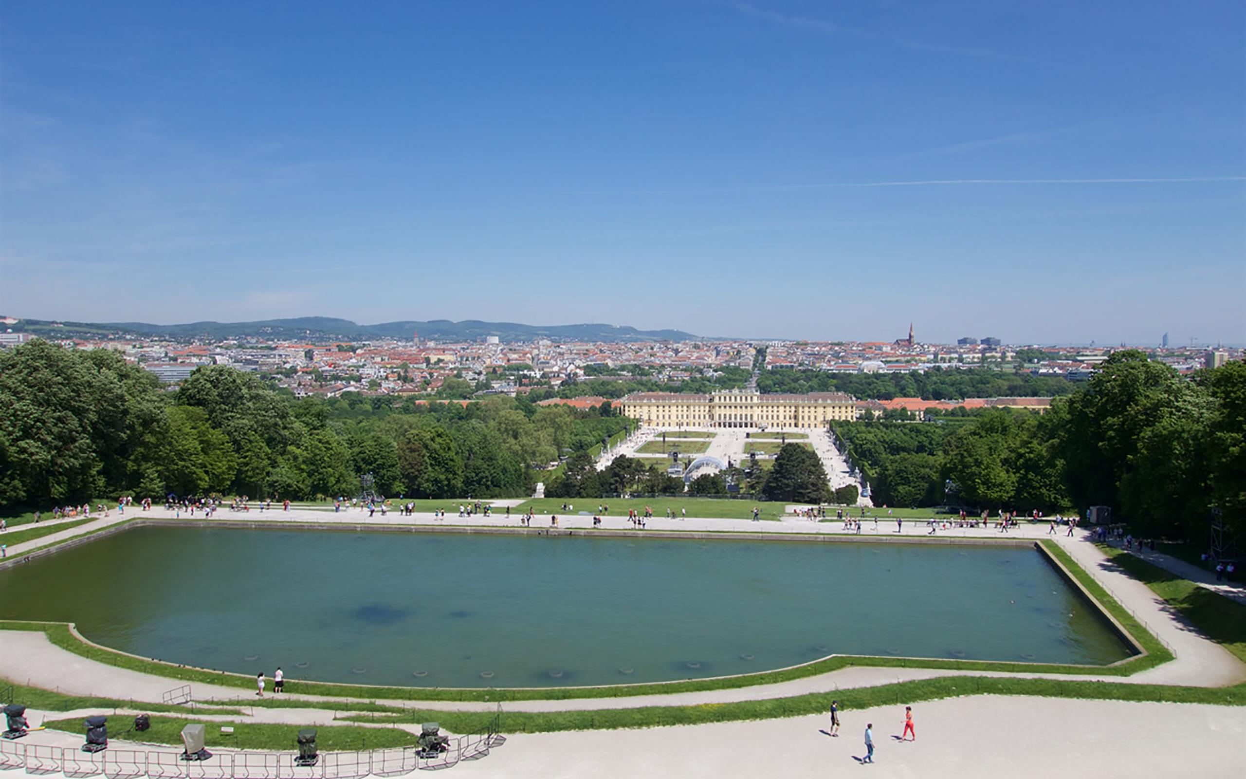 Blick von der Gloriette auf Wien.