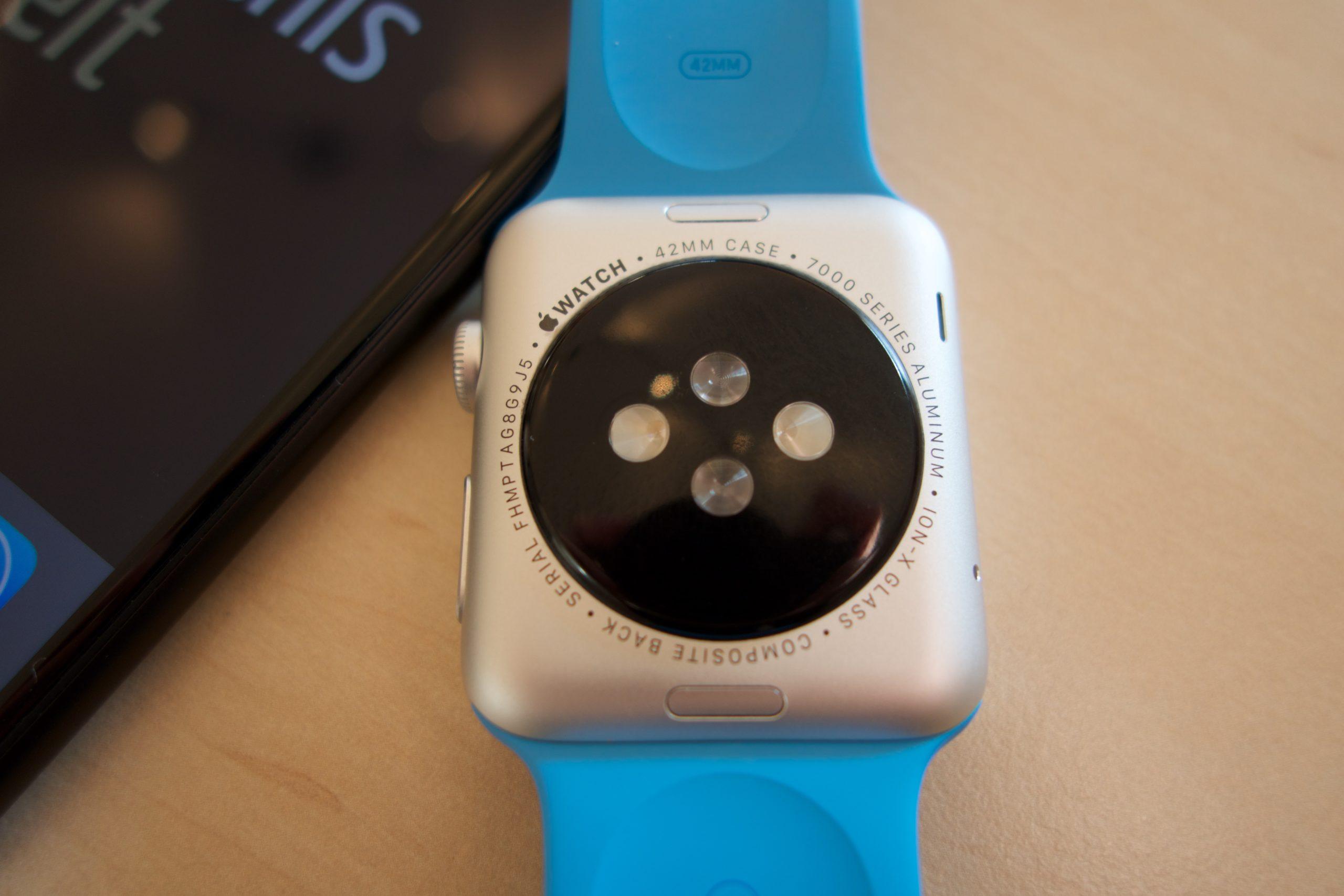 Apple Watch Sport, blau