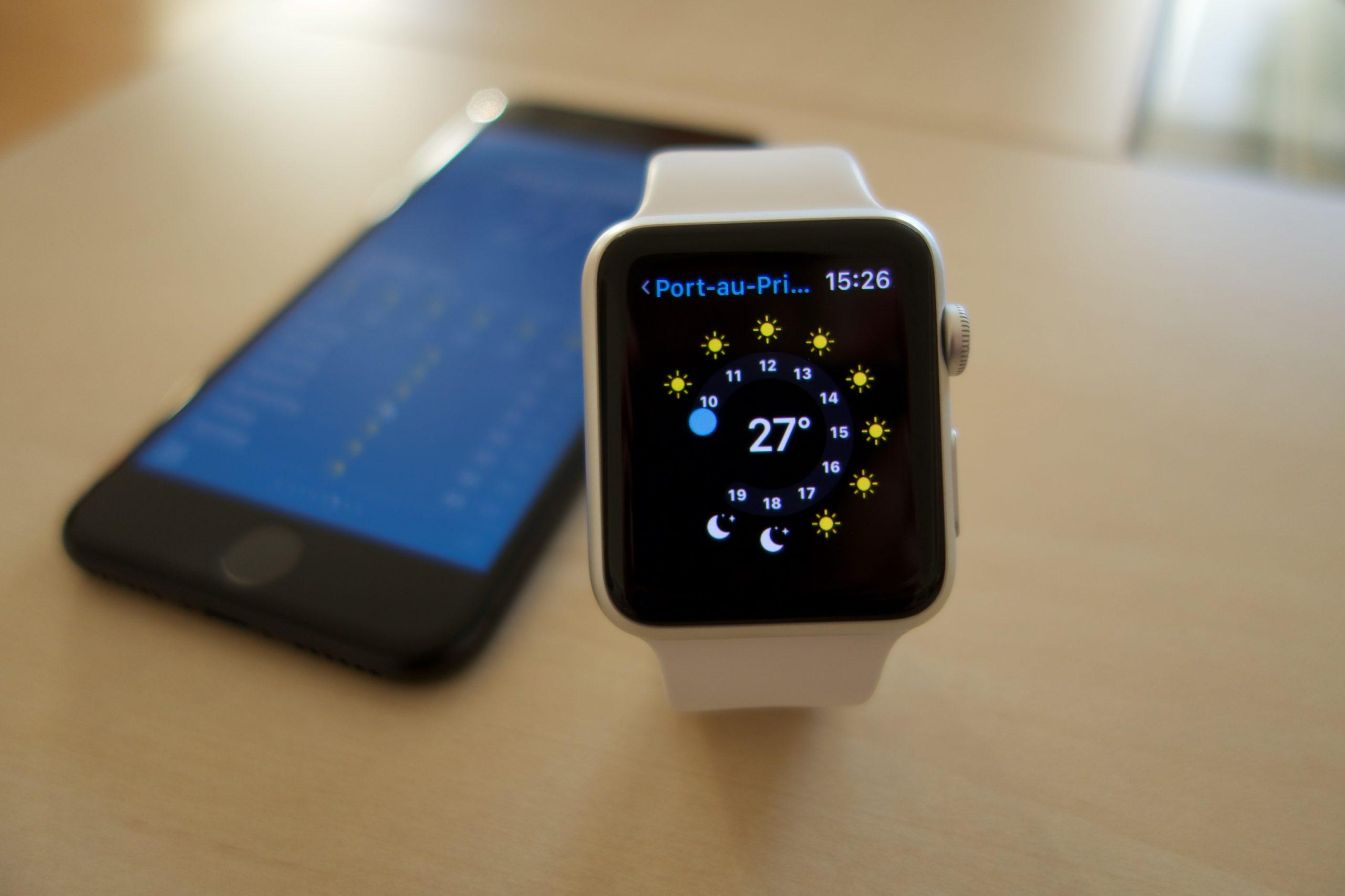 Infos zum Wetter auf der Apple Watch.