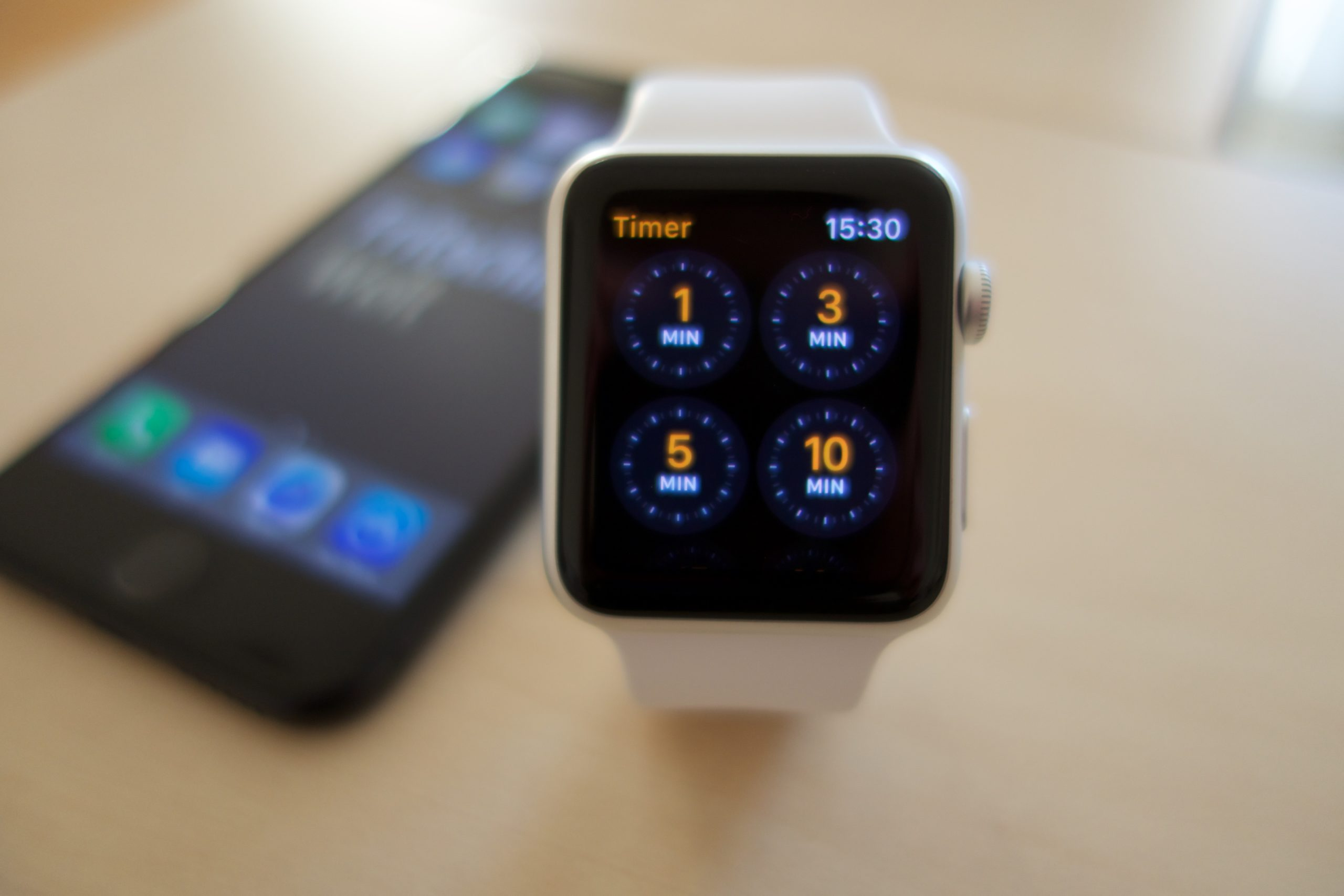 Praktische Timer per Apple Watch.