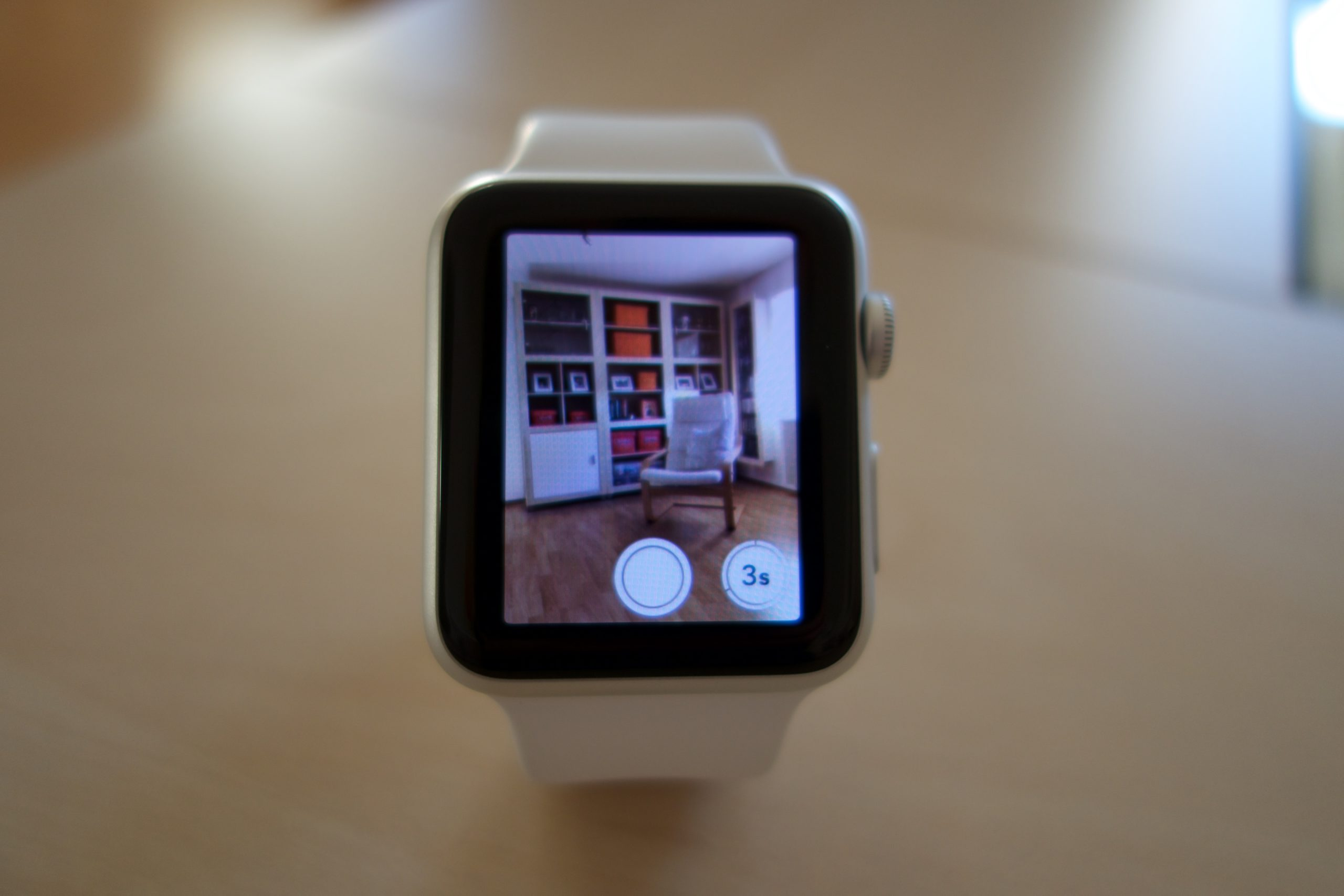 Steuerung der iPhone-Kamera per Apple Watch.