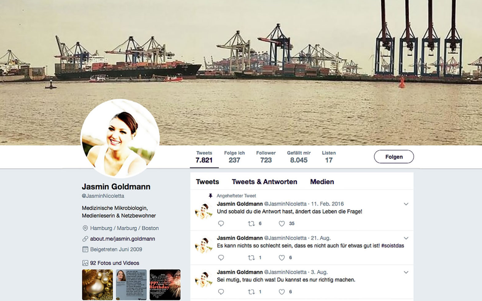 Twitter Jasmin Goldmann