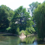 An dieser Stelle vereinen sich die Flüsse Aa und Werre. (Standort: Hansabrücke)