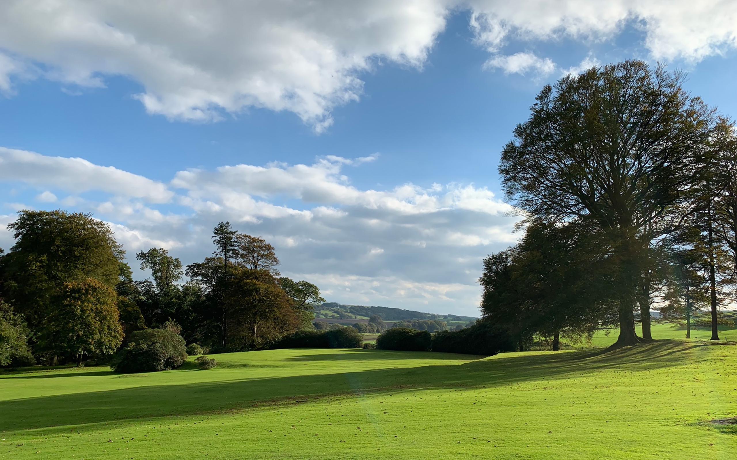 Die Landschaft am Agrennan Manor House in Castle Douglas.