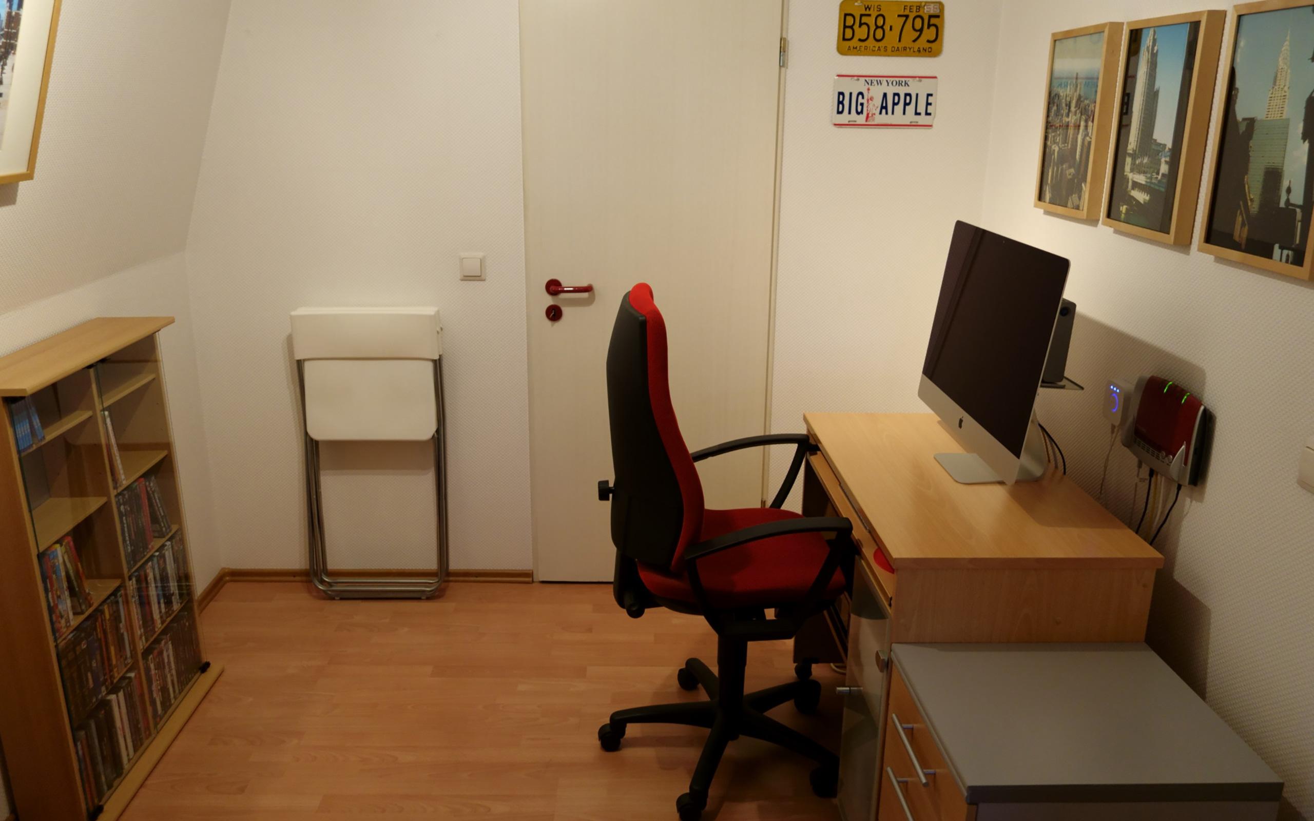 """Alter Arbeitsplatz mit iMac 27"""" (Ende 2012)."""