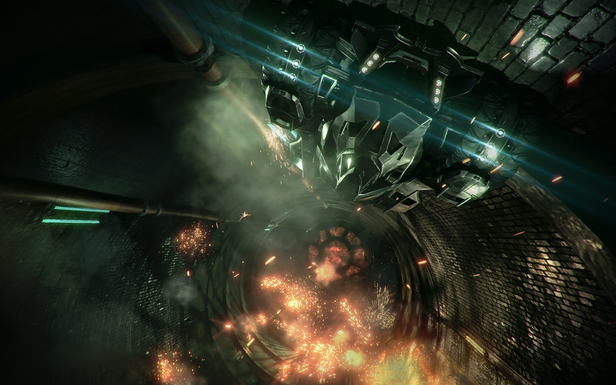 Die Fahrten mit dem Batmobil sind zum Teil spektakulär in Szene gesetzt.