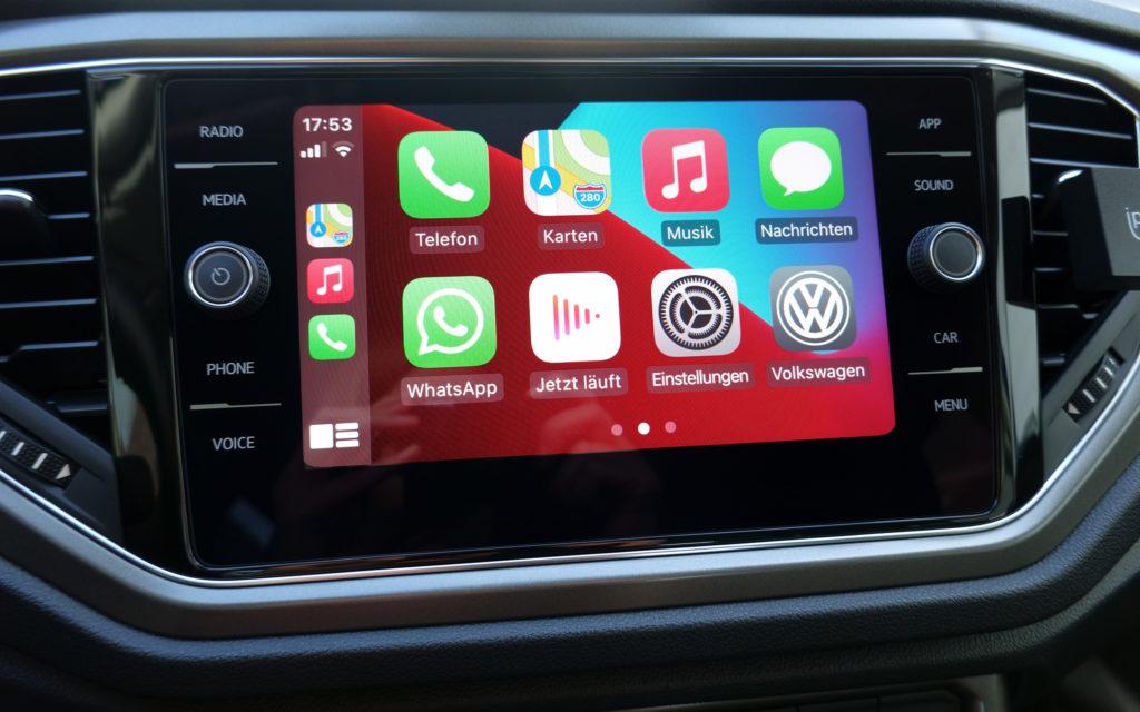 Apple CarPlay im VW T-Roc.