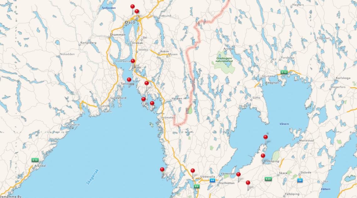 Karte Schweden/Norwegen