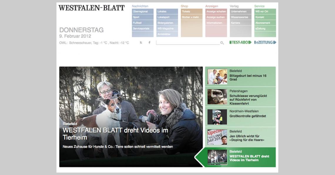 WESTFALEN-BLATT Zuhause gesucht Screenshot