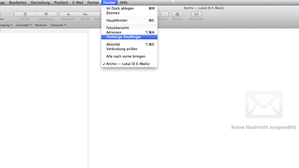Mail OS X Screenshot