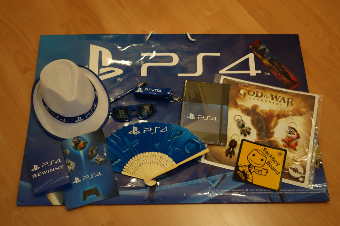 Giveaways von Sony PlayStation.