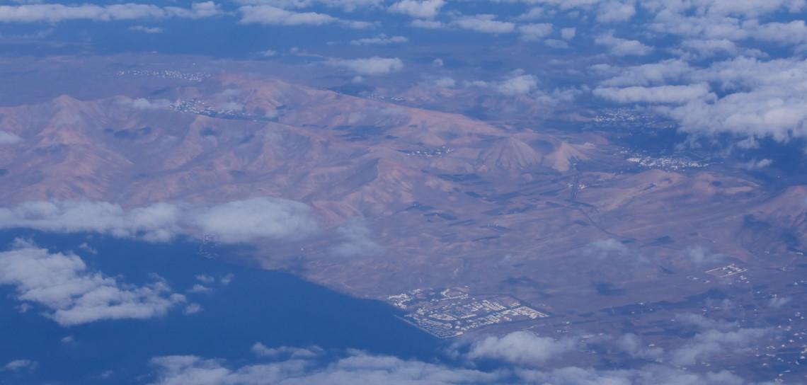 Fuerteventura aus der Luft.
