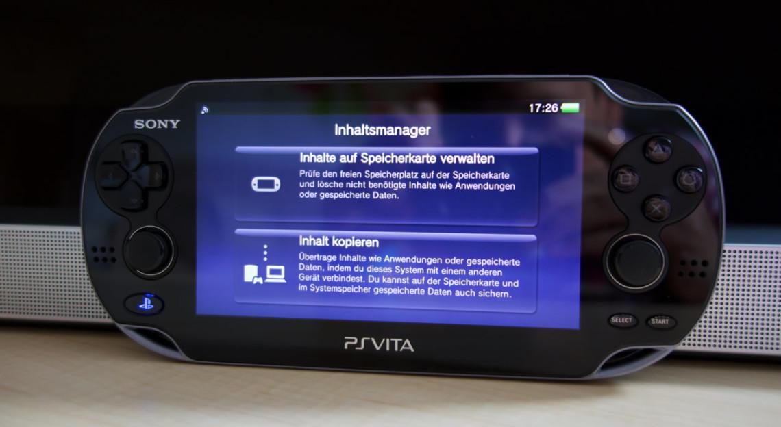 PS Vita Inhaltsmanager-Assistenten